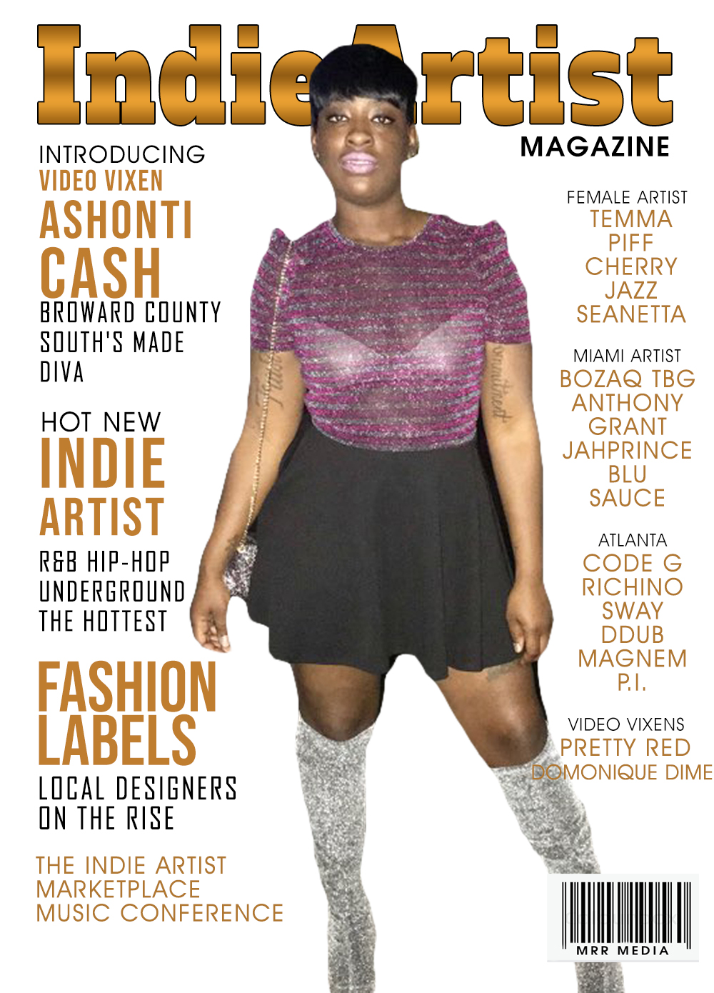 "Cover Model ""Ashonti Cash"""